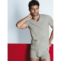 Sensual superior stretch cotton- T-shirt scollo V profondo